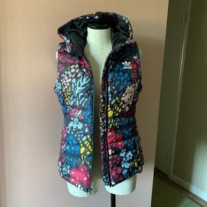 Adidas Floral Hooded Puffer Vest